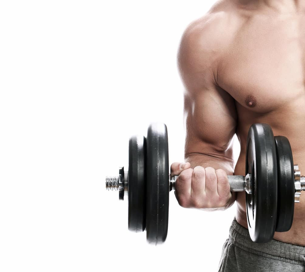 Bicep dumbbell curl isolatie oefening
